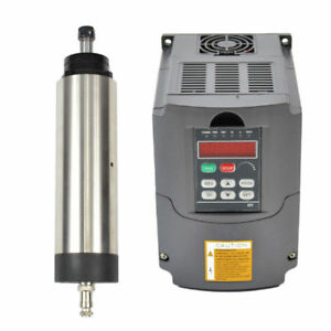Four Bearing 1 5kw Er16 Air cooled Spindle Motor 80mm And 1 5kw Inverter Vfd