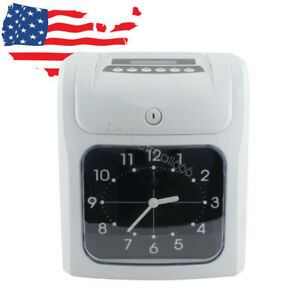 Electronic Analogue Employee Time Recorder Clock Employee Attendance For Company