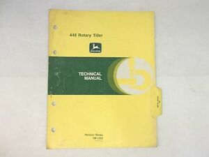 John Deere 448 Rotary Tiller Technical Manual For Tractors 650 And 750