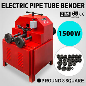 Electric Pipe Tube Bender 9 Round 8 Square Multi function Die Set Roller Round