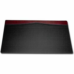 Dacasso Burgundy Leather Top rail Desk Pad 34 X 20