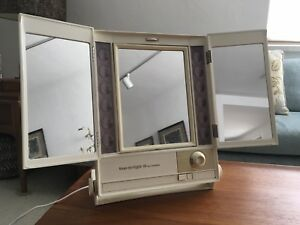 Vintage Pre Owned Mid Century Modern Clairol True To Light 3 Makeup Mirror