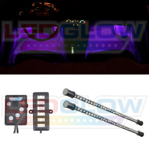 Ledglow 2pc 9 Inch Purple Led Interior Lighting Kit For Car Truck Underdash