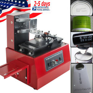 Us Stepless Speed Electric Pad Printer Printing Machine T shirt Ball Pen Light