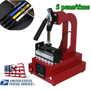 Digital Pen Heat Press Machine For Ball point Transfer Printing 550w For 5pc Pen