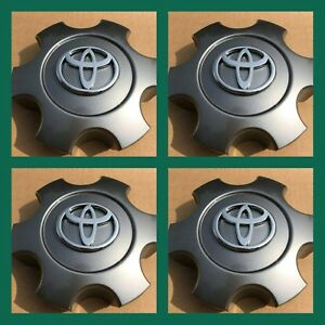 4 New 2003 2006 Toyota Tundra 03 07 Sequoia Wheel Center Caps Set Charcoal Grey