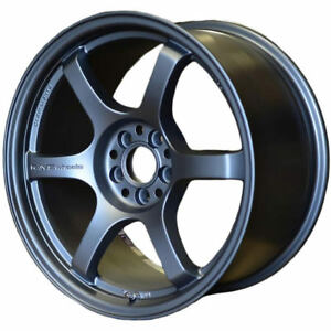 Gram Lights 57dr 18x8 5 5x100 37mm Gunmetal Blue Wheels Rims Wgiv37dg2