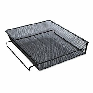Universal One Black Mesh Stackable Front Load Tray pack Of 4