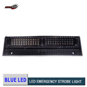 Car 68 Led Blue Hazard Warning Led Mini Bar Strobe Flash Light Dash Emergency