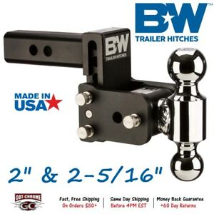 Ts10033b B W 3 Drop Tow Stow Adjustable Dual Ball Mount For 2 Receiver Hitch