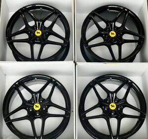 20 Ferrari California Black Factory Oem Turbo Forged Wheels Rims 20