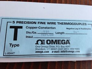 Omega 5 Precision Fine Wire Thermocouples Type T