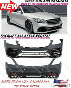 Mercedes Benz W222 S Class Amg Style 2018 S63 S65 Body Kit Front Rear Bumper