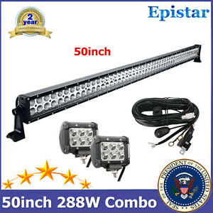 50 288w Led Combo Light Bar Off Road Vehicle Hummer Car Utility 18w Cube Wire
