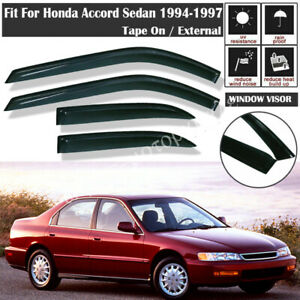 For Honda Accord Sedan 1994 1995 1996 1997 Out Channel Window Visors Rain Guards