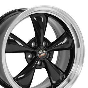 18x9 Rims Fit Mustang Bullitt Style Wheels Black Mach D Set