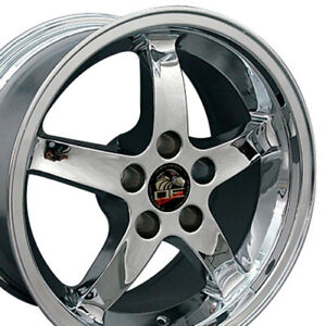 17x9 Rims Fit Mustang Cobra R Style Dd Chrome Wheels Set