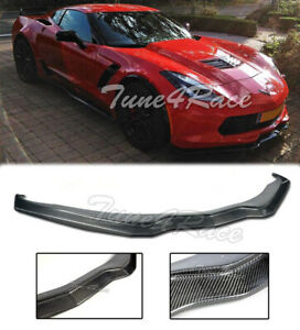 For 14 up Corvette Z06 Stingray Stage 2 Z07 C7 Carbon Fiber Front Splitter Lip