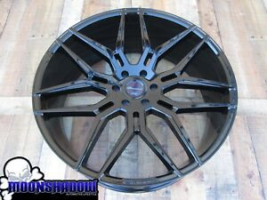 New 26 Giovanna Bogota Gloss Black Wheels Rims Gm 6x139 7 26x10 Chevy Gmc