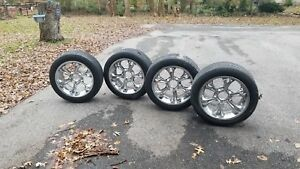4x Goodyear Eagle Gt Ii P275 45r20 Tires With Chrome Rims