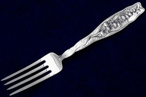Lily Of The Valley By Whiting Div Of Gorham Lunch Fork Blunt M Hallmark 7