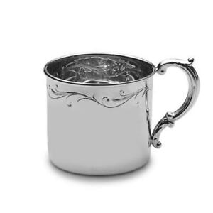 Empire Sterling Silver Floral Baby Cup New In Box Made In Usa
