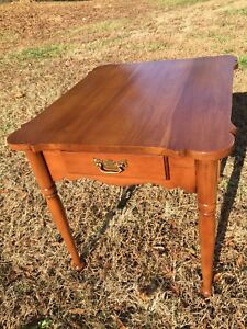 Statton Furniture Cherry Table 1966 Americana Vintage Cherry Wood Table