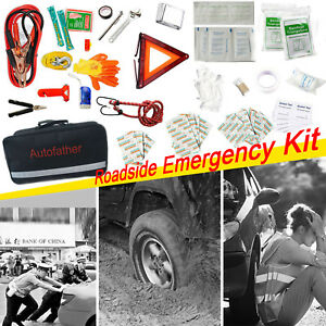 Emergency Roadside First Aid Kit Travel Car Auto Multi Tool All In One Bag Safe