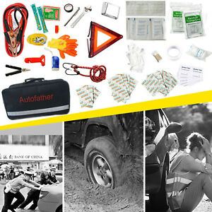 Roadside Emergency Kits Safety 123x First Aid Travel Car Auto Multi Tools Bag