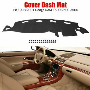 Fits 1998 2001 Dodge Ram 1500 2500 3500 Truck Dash Cover Mat Dashboard Pad Black