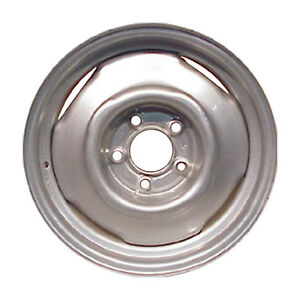 Oem Remanufactured 15x7 Steel Wheel Rim Flat Silver Full Face Painted 8030