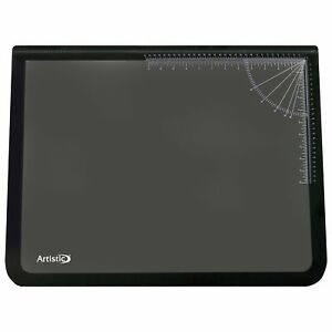 19 X 24 Logo Pad Lift top Desktop Organizer Desk Mat Black clear