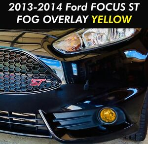 2013 2014 Ford Focus St Fog Light Yellow Overlay Vinyl Tint Precut Set