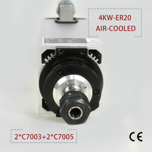 4kw Er20 Air cooled Spindle Motor 4 Bearings In For Cnc Engraving Milling