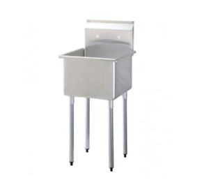 Lj Sk2424 1 One Compartment Utility Sink 27 Faucet Included