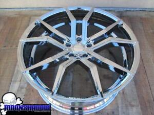 22 Rosso Icon Staggered Chrome Wheels Rims 22x8 5 22x10 5 5x120 Bmw Lexus