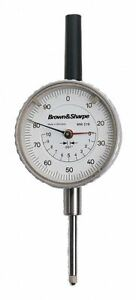 Tesa Brown Sharpe Continuous Reading Dial Indicator Agd 2 2 250 Dial Size