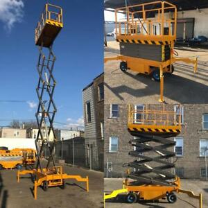 2019 5 Star 31 Feet Max Lift New Electric High Scissor Lift Man Lift