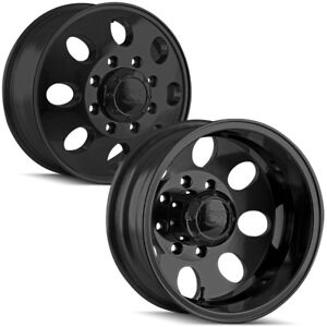 Set Of 4 17 Ion 167 Dually 8x165 1 8x6 5 Matte Black Wheels Rims