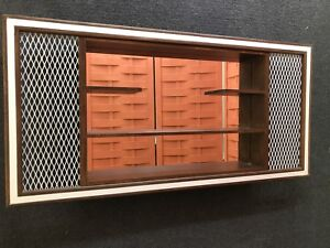 Mid Century Modern Belart Shadow Box Display Wall Mirror Shelves 39x19