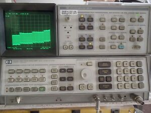 Hp Agilent 8566b 100 Hz To 22 Ghz Microwave Spectrum Analyzer W Cables