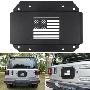 Tailgate Vent Plate Cover Spare Tire Carrier Delete Tramp For Jeep Wrangler Jl