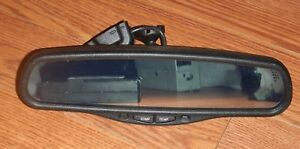 Escalade Tahoe Yukon Silverado Rear View Mirror W Compass Temp Auto Dim