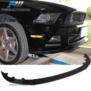 Fits 13 14 Ford Mustang Gt Style Front Bumper Lip Pu