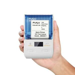 Puqu Wireless Label Printer Portable Bluetooth Thermal Label Maker Q00 With Rec
