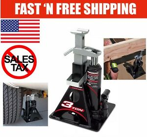 Black 3 Ton All in one Portable Stand And Bottle Jack Trucks Off Road Heavy Duty