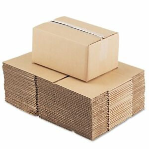 General Supply Brown Corrugated Fixed depth Shipping Boxes 12 inch Long X