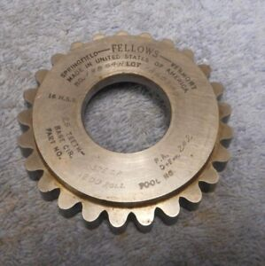 Gear Shaper Cutter Fellows 3 8 Circular Pitch Roller Chain Sprocket