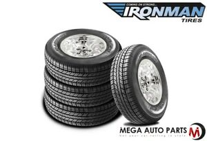 4 New Ironman Rb Suv 255 70r17 112t White Letter All Weather Touring Tires