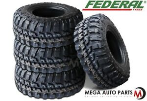 4 New Federal Couragia Mt 37x12 50r18 128q Off Road All Terrain Mud Tires